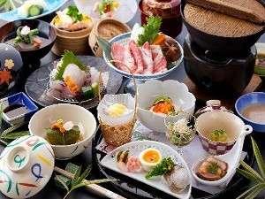 お宿 有楽:豊後の美味を中心とした彩豊かな【本格懐石一例】五感に響く料理をご堪能ください