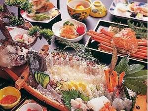 ~海鮮料理と露天風呂からの夕日が自慢~ 小浜温泉 旅館山田屋:冬場が旬の海鮮・平目プランの御料理はお魚を堪能されたいお客様にはオススメです。