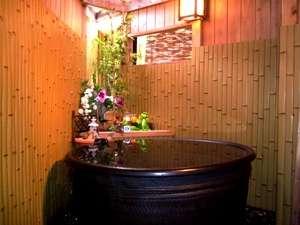 温泉と海の幸のお宿 庄兵衛:陶器の丸いお風呂【ひなの湯】です。貸切でごゆっくりどうぞ♪