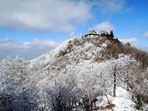 ひこさんホテル和:雪化粧をした英彦山