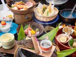 祭畤温泉(まつるべ温泉) かみくら :*【夕食:スタンダードコース(一例)】祭畤の地産食材も用いた自然を感じる料理の数々