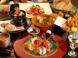伊豆修善寺温泉 湯回廊 菊屋:*月替りの趣肴会席~台の物、洋皿、煮物、お食事が選べます※年末年始はおまかせ特別料理となります