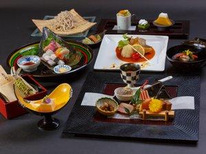 伊豆修善寺温泉 湯回廊 菊屋:*月替りの趣肴会席~台の物、洋皿、煮物、お食事が選べます※年末年始はおまかせ特別料理に変更となります