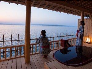 多田屋:温泉露天風呂付客室利久712号室 客室一例 海釣りも出来る客室です