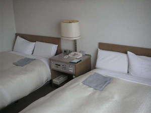 ホテルアクア黒部:♪ツインベッドルーム■広さ:19.6平方メートル。窓から立山連峰がご覧いただけます。