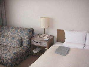ホテルアクア黒部:ダブルベッドルーム■広さ:19.6平方メートル。ソファーがついたお部屋となります。