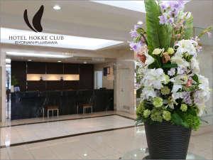 ホテルロビー☆お花は毎週変わります♪