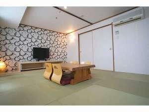 【和室】繁華街でもごゆっくりお寛ぎいただける8畳の和室