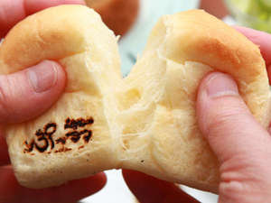 白樺湖畔の宿 心ゆらり味さわわ 湖風:あるリピーターさんはこのパンの大ファンになってくれています。「職人直伝」高原で焼き上げた自家製パン。