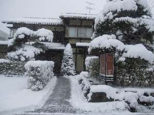冬の雪景色 こまかい雪が30㌢は積もっています