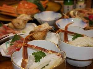 木津館:地ガニ大好きプランのお料理です。