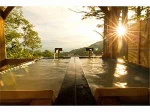 最上高湯 善七乃湯(旧大平ホテル):4つ目の貸切露天風呂『恵比寿天』