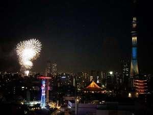 浅草ビューホテル:隅田川花火大会 第1会場での花火は「桜橋」付近より上がります
