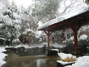 伊勢屋:冬の野天風呂
