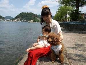 鹿久居荘 日生店:【ワンちゃんと一緒に宿泊できます。】