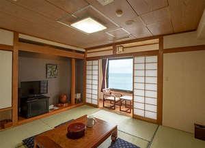 シーサイドホテル屋久島:新館和室8畳タイプのお部屋です。