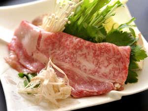 旅館 古城:但馬牛のしゃぶ肉の一例