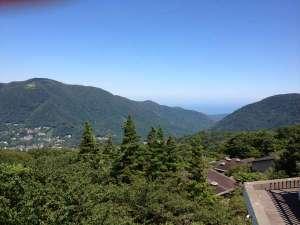 ・箱根強羅・早雲山駅前展望台からの景色・相模湾を一望!