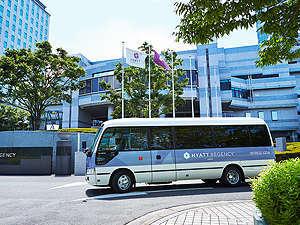 ハイアット リージェンシー 大阪:無料送迎シャトルバス。JR大阪駅より、毎時30分間隔で運行中