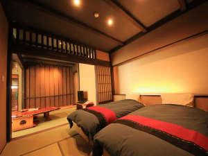 野沢温泉 河一屋旅館:【特別室】信濃艇[桜] 露天風呂付和室