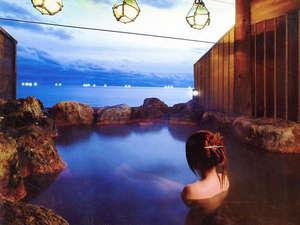 函館市湯の川湯元漁火館:*【露天風呂(一例)】