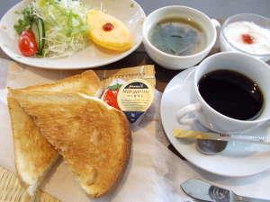 水沢グリーンホテル:朝食 洋食 厚切りトーストセット