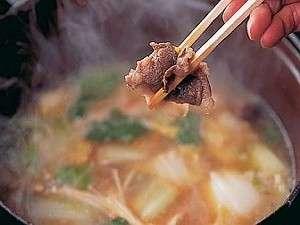 あじさいの宿 都荘:猪からダシをとりコクと深みが増すボタン鍋