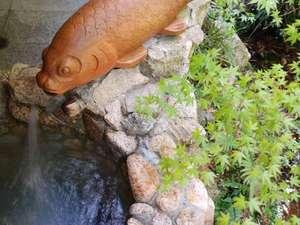 あじさいの宿 都荘:ききょうの間の露天風呂。自然の中で存分にお風呂を満喫できます。