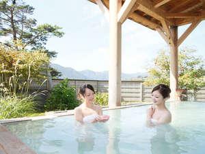 休暇村 岩手網張温泉:気持ちいいね♪眺め良くてついつい長風呂♪【大釈の湯・露天】】