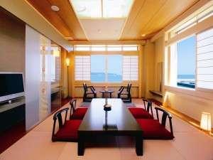 鴨川ユニバ-スホテル:デラックス和室+洋室(和洋室)タイプ一例