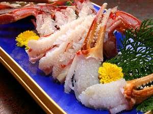 漁師直送の宿♪ 秀竹:プリプリのかに刺し例。濃厚な甘味にウットリ・・・