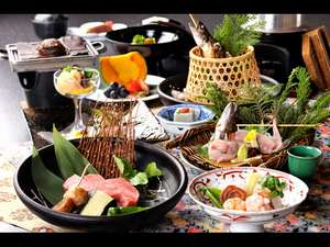 奥飛騨温泉 穂高荘 山のホテル:和会席料理(一例)