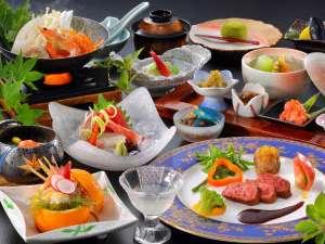 岳温泉 ながめの館 光雲閣:創作和食膳一例・季節により変更の場合がございます。