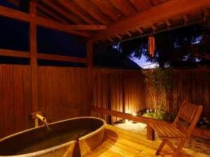 奥飛騨温泉郷 花ごころ万喜(ばんき):貸切露天風呂【ほたるぶくろ】