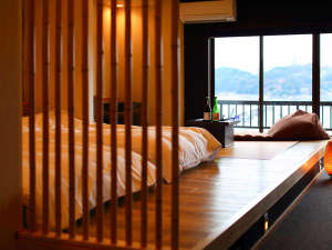 蟹のお宿 温泉旅館 鶴荘:昨年完成したばかりの和洋室