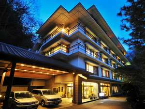 鎌先温泉の高台に佇む木村屋旅館【外観】