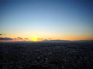 夕焼けの景色は幻想的(写真はイメージです。実際の眺望と異なる場合がございます。)
