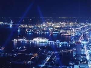 横浜ロイヤルパークホテル :まさに「ブルーライトヨコハマ」(写真はイメージです。実際の眺望と異なる場合がございます。)