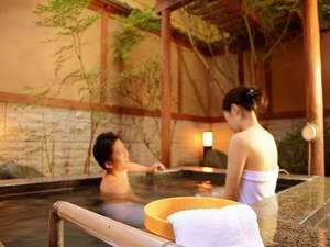 湯けむり富士の宿 大池ホテル:二人の距離が縮まる貸切り露天風呂