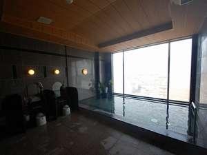 ホテルルートイン千歳駅前:☆最上階にある人口温泉「旅人の湯」は深夜2時まで、朝は5時から利用できます(写真は男性用)
