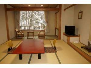 むささびの訪れる宿 つるや旅館:冬・渓流館お部屋からの冬景色