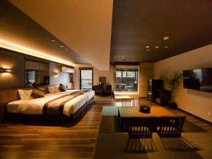 リブマックスリゾート安芸宮島:【◆スイート◆(露天風呂付客室)63平米】「和モダン」をテーマに統一された和洋室