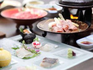 琴平花壇:瀬戸の海の幸や讃岐の山里の幸を散りばめたディナーコース(料理イメージ)