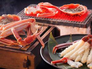 旅亭懐石 のとや:旨味たっぷり活ずわい蟹!3種の調理法「焼き・刺し・蒸し」で味わう蟹をご堪能ください♪