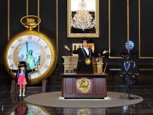 The Park Front Hotel at Universal Studios Japan(R):タイム・トラベルコンシェルジュの巨大な懐中時計も登場!