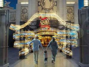 The Park Front Hotel at Universal Studios Japan(R):「スパイラルリボンのイルミネーション」開業2周年に向けての新たなはじまりを予感させます。