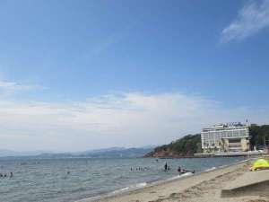 舘山寺サンビーチ。ホテルから徒歩2分。