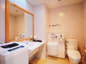 ぷらいむはうす ん:【バス・トイレ】大きな鏡の洗面台、洗濯機もゆったりご利用可能