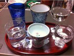 日本酒の飲み比べ