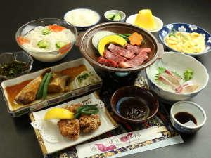 ビジネス須川観光ホテル:【スタンダード夕食】地産地消にこだわった、旬の食材をご賞味ください。